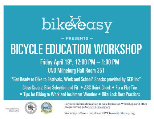 UNO_GCR Bicycle Workshop Flier