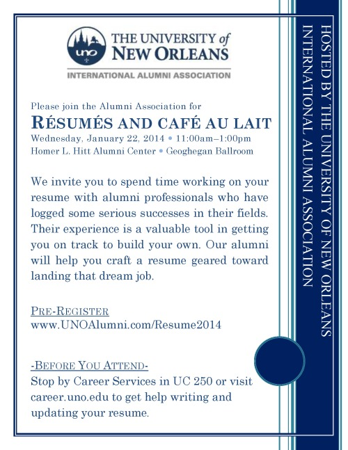 Resume Review Invite Students2014-1