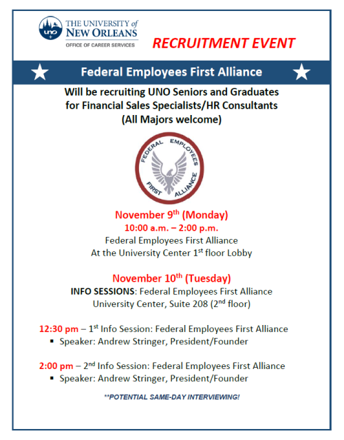 federal employees first alliance